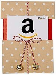 Amazon.de Geschenkgutschein in Geschenkschuber (Beige mit Punkten)