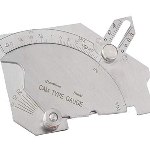 1-15mm Edelstahl Taper Welding Gauge Test Metric Imperial Schwei/ßlineal Taper Gap Hole Gauge Inspection Tool Taper Gage