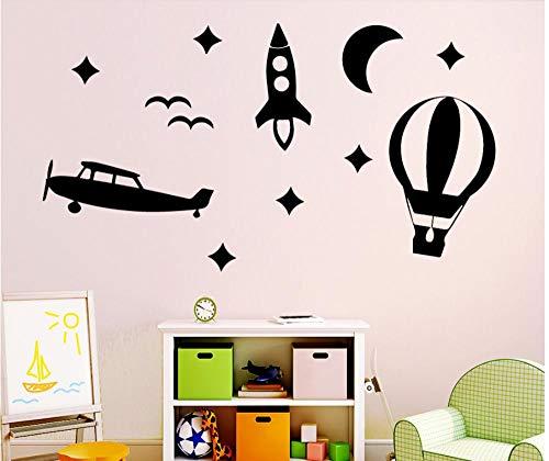 Muursticker 43X78cm Ballon Stars Applique Kan verplaatsen PVC Wallpaper Home Decoratie Moderne Waterdichte Zelfklevende Kunst Creatieve DIY