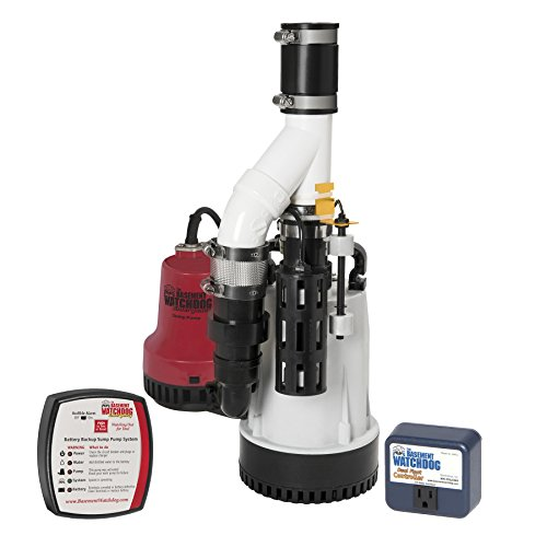 Basement Watchdog Combo Pre-Assembled 1/3 HP Primary Plus Battery Backup Sump Pump System