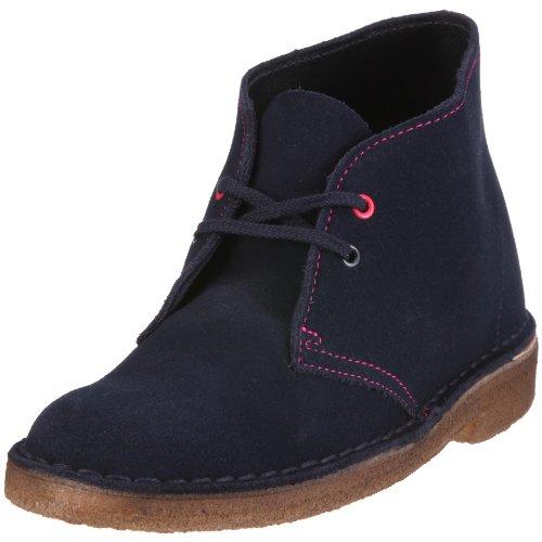 Clarks Desert Boot 20341035 Damen Stiefel,EU 37.5 blau (French Navy Sde) (UK 4,5)