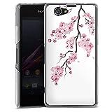 DeinDesign Coque Compatible avec Sony Xperia Z1 Compact Étui Housse Fleurs de cerisiers Japon Asie
