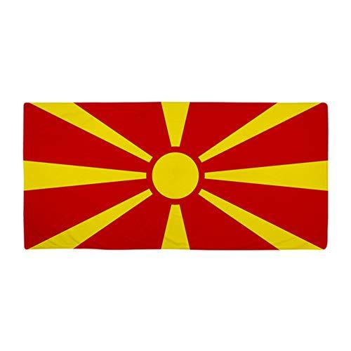 CafePress Handtuch mit Flagge von Mazedonien, groß, weich, 76,2 x 152,4 cm, einzigartiges Design
