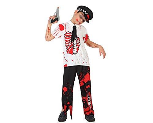 Atosa - 22772 - Costume - Déguisement De Policier Zombie - Garçon - T-4