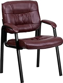 Flash Furniture Burgundy Leather Executive Side Reception...