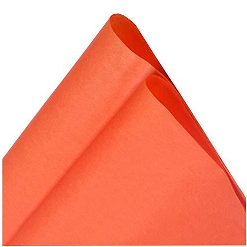 Jiechang - 40 hojas de 50 x 75 cm, papel de seda, regalo de papel de envoltorio para manualidades, bodas, bolsas, regalos, fiestas, Navidad, Halloween, San Valentín, etc. (naranja)