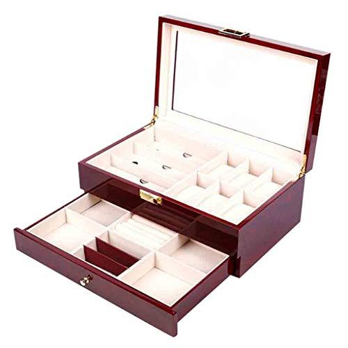 Roscloud Uhr Schmuckschatullen Hochwertige Holz Uhrengehäuse Display Box Uhr Geschenkboxen 6 Slots mit Schublade Invicta Uhrenboxen Roscloud@