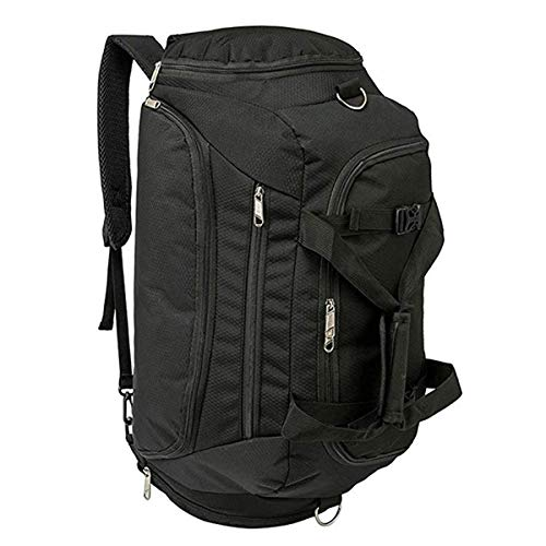 Travel Duffle Bags for Men, Eaglean 3-Way Travel Backpack Luggage Gym Bag for Man Sports Bag Travel Weekender Bag Waterproof Duffle Bags Waterproof Duffel Backpack with Shoes Compartment 50L Black