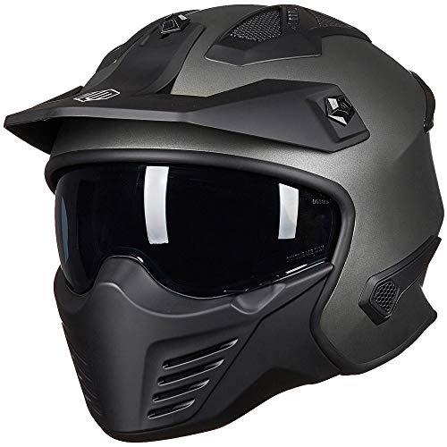 ILM Open Face Motorcycle 3/4 Half Helmet for Moped ATV Cruiser Scooter DOT (Midnight Green, M)