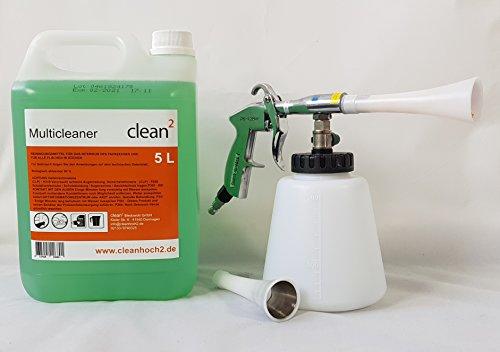 Clean 2 Blow Gun Set, Reinigungspistole, Multicleaner 5L für die Fahrzeug Aufbereitung Innenraumreiniger