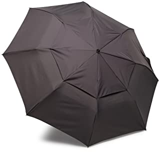ShedRain WindPro Vented Auto Open Auto Close Compact Umbrella with Curved Wood Handle COPW010