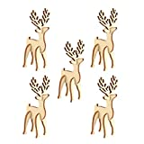 Healifty 5pcs Navidad 3D Rompecabezas de Madera elk Rompecabezas Modelo de Mesa oranament Regalo para niños