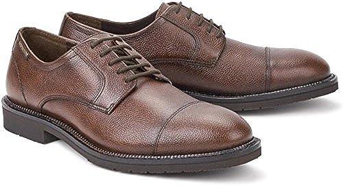 Mephisto Tarik gipsi Chestnut braun Leather formal laceschuhe for Men