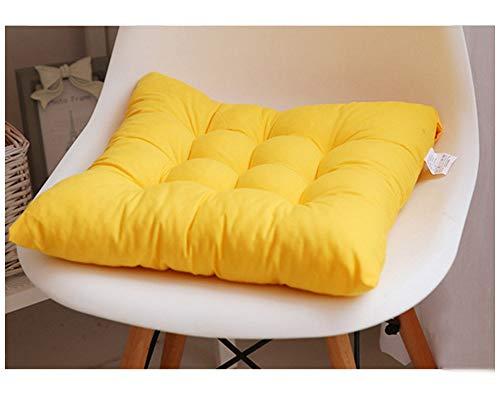 GELing Gepolstertes Sitzkissen Stuhlauflage Sitzpolster Stuhl Für Haus Gartenmöbel Deko Gelb 45X45CM
