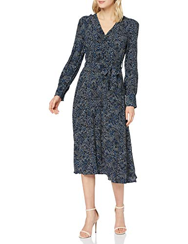 YAS Damen YASSOFFI LS MIDI Shirt Dress S. Kleid, Twilight Blue, XL