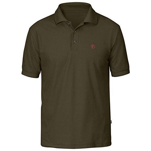 Fjällräven Crowley Pique Shirt M T-Shirt, Uomo, Dark Olive, XL