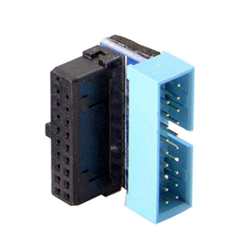 CY USB 3.0 20pin Male 90 Degree to Female Extension Adapter for Motherboard Mainboard Up Angled