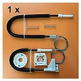 LIUWEI FIT DE Skoda Octavia Tipo 1U 1996-2004 Kit de reparación del regulador del regulador del Lado Izquierdo Trasero