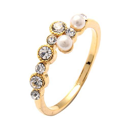 [cream dot クリームドット]リング 指輪 レディース 人気 リング 大きいサイズ ピンキーリング ラップリング キュービックジルコニア 大人 【ゴールド×11号】