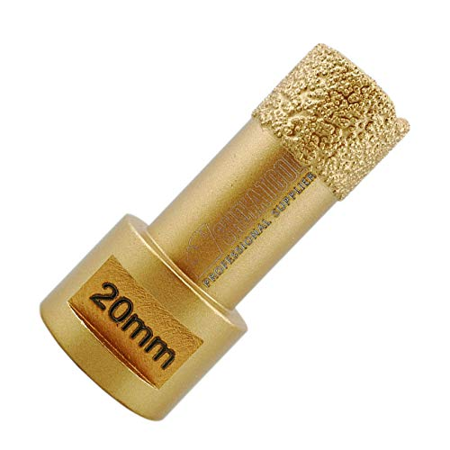 SHDIATOOL Diamond Drill Core Bit Diameter 20mm for Porcelain Tile Granite Marble Dry Drilling