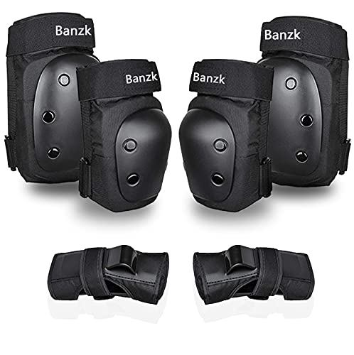 Adult Knee Pads Elbow Pads 6 in 1 Protective Gear Set for Skateboarding Skating Biking Roller Skating Cycling (Medium)