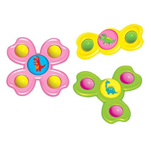TiKiNi Juego de juguetes para bebé Sucker con 3 piezas de ventosa, con forma de dinosaurios y dedos de juguete, para jugar en la mesa