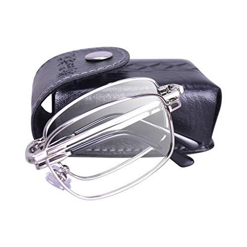 Bril-type Vergrootglas, Anti-blauw leesbrillen, High-definition optische lenzen, het lezen van kranten, for Ouderen, Zwart/Goud/Zilver (Size : Golden 250 degrees)