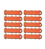 Sicherheitsmesser Kartonmesser Messer Zum Öffnen Von Kartons/Kartonöffner - Sicherheits-Cutter/Folienschneider/Papierschneider - Klever Kutter - orange (10 Stück)