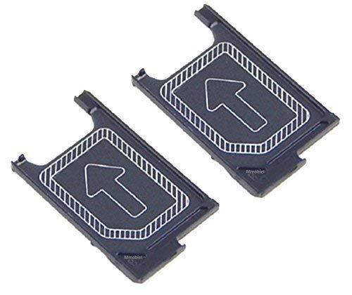 MMOBIEL Soporte Ranura de Bandeja de Tarjeta Nano Sim Repuesto Compatible con Sony Xperia Z3 / Z3 Compact / Z5 Compact Mini D6603 D6653 D5833 und Z5 E5823 E5803 (Negro)