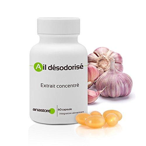 AJO DESODORIZADO * 60 cápsulas * Cardiovascular (tensión), Inmunitario (antimicrobiano,...