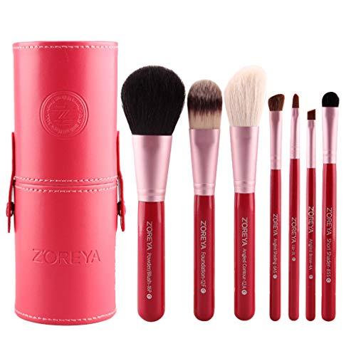 Berimaterry ❤️ Outils De Maquillage, Bijoux pour Femmes, 7 Pinceaux De Maquillage Classiques, Pinceau à TêTe Plate, Pinceau Uniforme