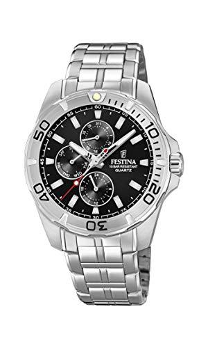 Festina Herren Multi Zifferblatt Quarz Uhr mit Edelstahl Armband F20445/3