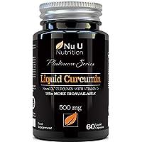 Cápsulas de Cúrcuma Curcumina (Líquidas) con Vitamina D   185 Veces Más Biodisponibilidad Curcumina NovaSOL®   Curcuma Curcumina Líquida Vegetariana de Calidad Superior de Alta Potencia
