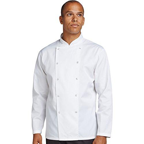 Denny 's dd16e-xs AFD Chef 's Jacke, Regular Fit, XS, weiß
