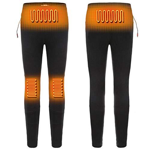 [2020 aggiornato] Intimo termico per uomo e donna, pantaloni riscaldati riscaldati USB lavabili, 3 livelli di temperatura Pantaloni riscaldanti elettrici a temperatura regolabile per sport invernali