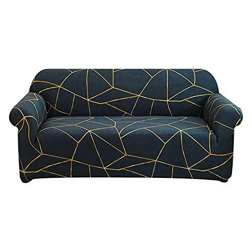 WXQY Funda de sofá elástica para Muebles,Funda de sofá de Esquina en Forma de L para Sala de Estar,Funda de sofá Antideslizante para protección de Mascotas A8 2 plazas