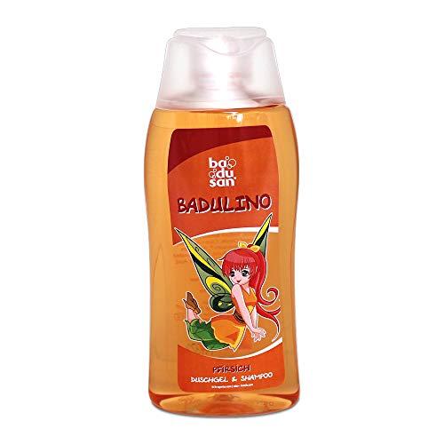 Badulino Kinder Duschgel & Shampoo Pfirsich Inhalt: 200 ml, Duschbad, Badespass, Badusan, Kinderduschgel