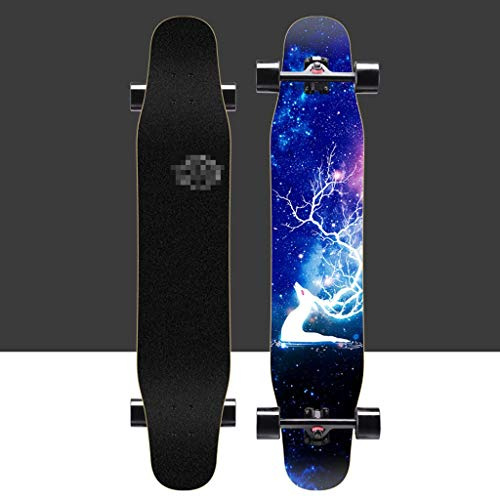Gqping Sliding Skates Longboards Skateboards Gleichgewicht Auto Vier fahrbare Scooter Professional Version Anfänger Lengthen Skate Boards Geeignet for Jugendliche Erwachsene (Color : A)