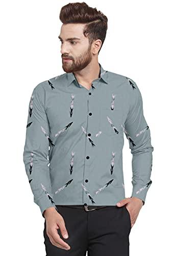 KriGo Casuals Superb Premium Shirt, Lycra Stretchable Colour Green Size L