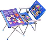 Digionics Kids Table and Chair Set Solid Wood Desk Chair (Blue)