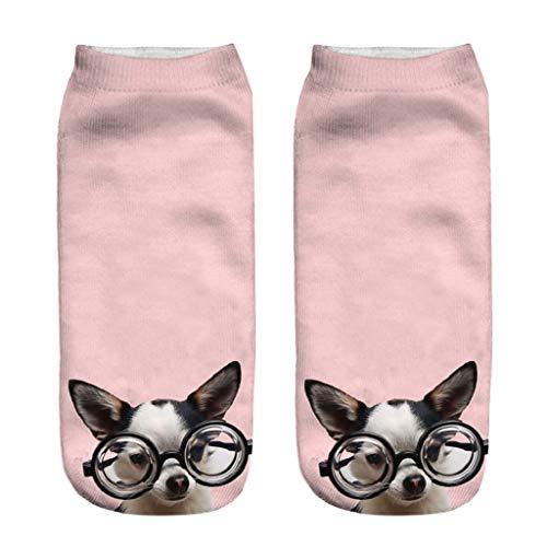 LUCKYCAT Calcetín Unisex Adulto Calcetines De Algodón Niña Calcetines Divertidos Acogedor Transpirable Calcetines Mujer Divertidos Originales Animales Lindos Estampados para Niña y Mujer