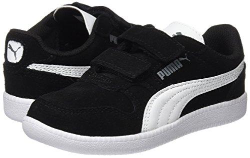 Puma Unisex-Kinder Icra Trainer SD V PS Sneaker, Schwarz Black-White - 7