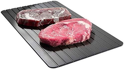 ZCY Auftauteller/Fast-Food-Fleisch Schnellauftau-Auftautablett Schneller und sicherer Auftauen für Tiefkühlkost/Fleisch, Schweinefleisch/Rindfleisch Fisch-L (Größe: S)