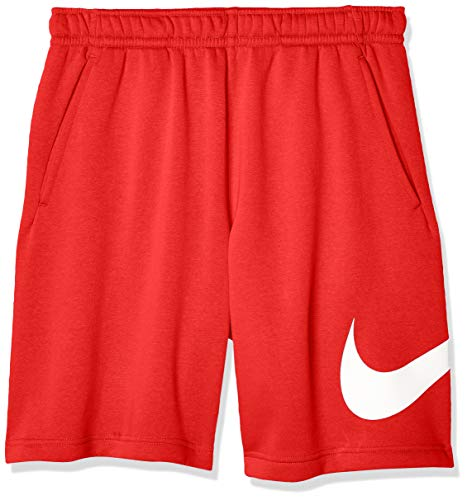 Nike Men's NSW Club Crew, University Red/White, Large