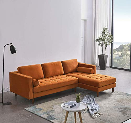 Canapé d'angle 4 places Orange Confort
