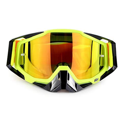 Moto d'hiver Lunettes de Ski de Snowboard sur des Lunettes CS Shooting Lunettes de Protection UV Anti-buée résistant aux Rayures Équitation en Plein air Équipement de Moto,D