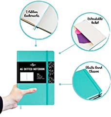 Stationery Island A5 Dotted Notebook – Teal. Hardcover Bullet Grid Journal with 180 Pages and Premium 120gsm Paper. for Notes, Planning, Study, Travel, Journaling and Projects #4