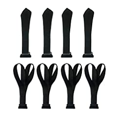 Alfa Gear Heavy Duty Window Tie Down Hook Straps One Loop and Two Loops Kits Universal for Kayak Canoe SUP or Car Roof Bag No Water Leakage No More Straps Inside 8 pcs/Set