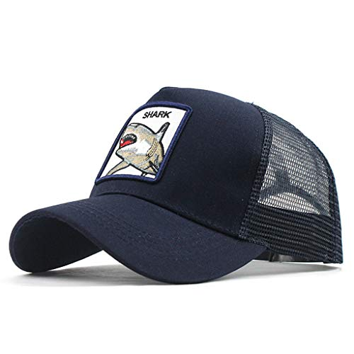 DOLDOA Hut Damen Sommer,Unisex Outdoor Baumwolle Hochwertige Tier Bestickte Baseball Caps Einstellbar (Marine)