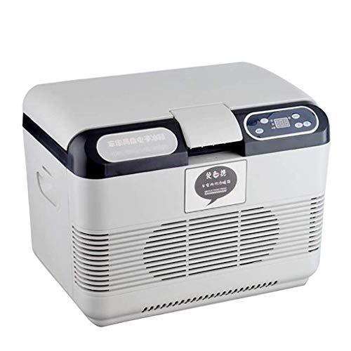 LONGJUAN-C coches 15L portátil refrigerador del coche, pequeña mini caja de calefacción y refrigeración del congelador 220V AC-12V / 24V DC/for camionetas, Viajes, Medicina Refrigerador